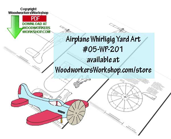 Airplane Whirligig Downloadable Scrollsaw Woodworking Plan