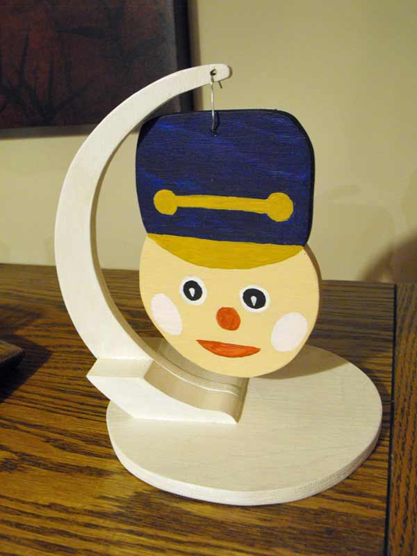 Toy Solider Head Ornament Downloadable Simple Scrollsaw Pattern