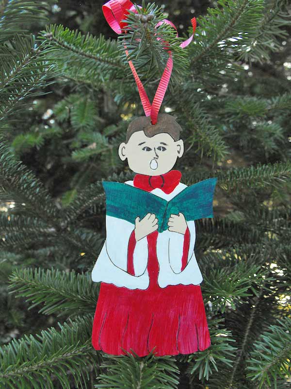 Choir Boy Christmas Downloadable Scrollsaw Woodworking Plan