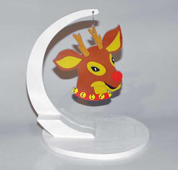 Rudolph Christmas Ornament Downloadable Scrollsaw Woodworking Plan