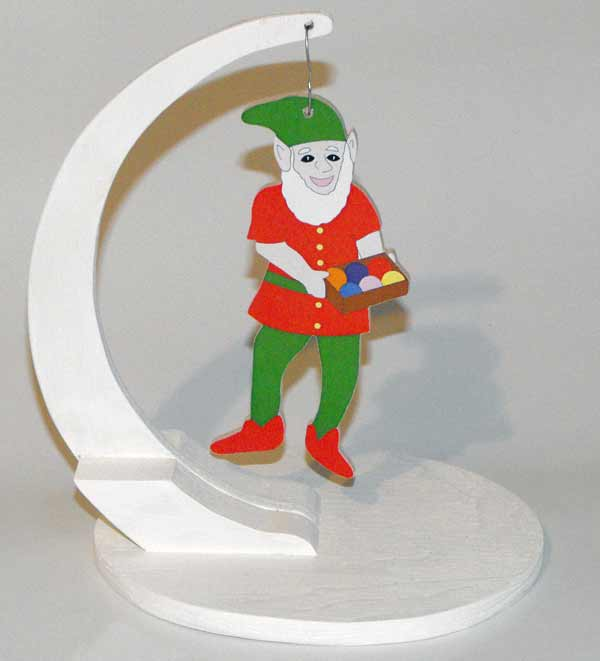 05-WP-215 - Christmas Elf Ornament Downloadable Scrollsaw Woodworking Plan PDF