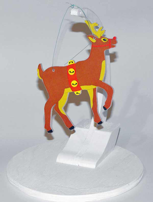 Christmas Reindeer Ornament Downloadable Scrollsaw Woodworking Plan