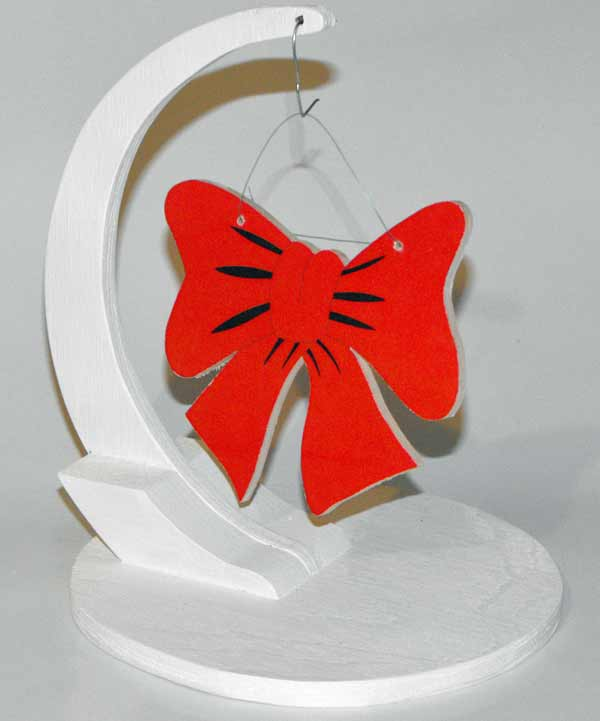 05-WP-218 - Christmas Bow Ornament Downloadable Scrollsaw Woodworking Plan PDF