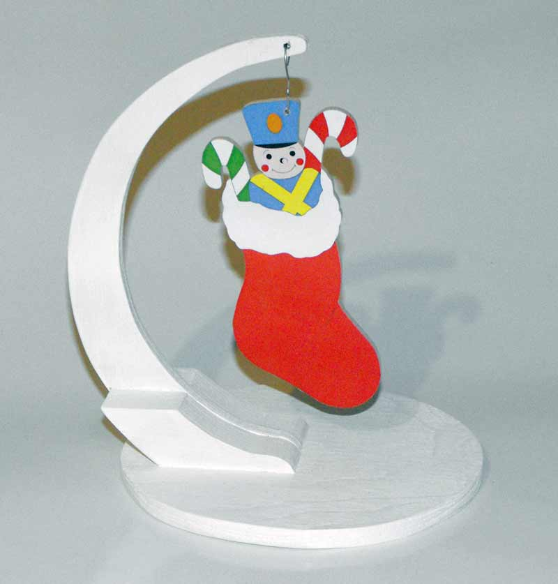 Christmas Stuffed Stocking Scrollsaw Woodworking Plan
