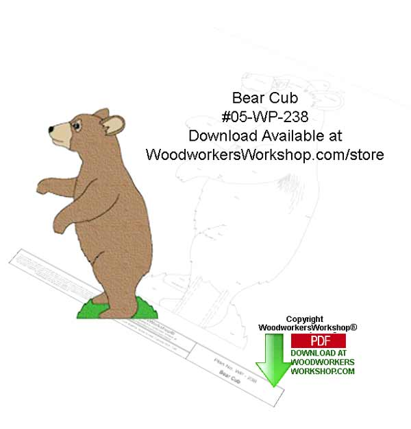 Bear Cub Downloadable Yard Art Woodcraft Pattern
