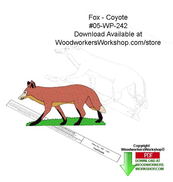 Fox or Coyote Downloadable Yard Art Woodcraft Pattern
