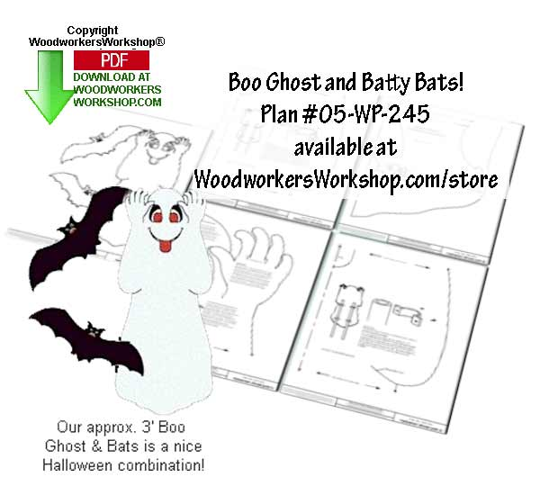 Boo Ghost and Batty Bats Downloadable Jig Saw Woodworking Plan