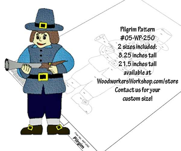 Pilgrim Downloadable Scrollsaw Woodworking Plan