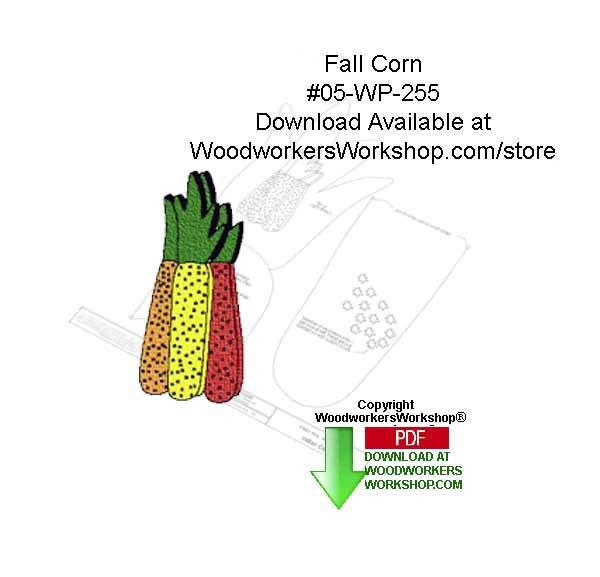 Fall Corn Free Downloadable Scrollsaw Woodcrafting Pattern