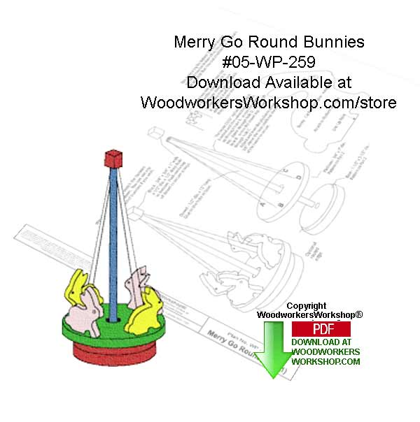 Merry Go Round Downloadable Woodworking Pattern