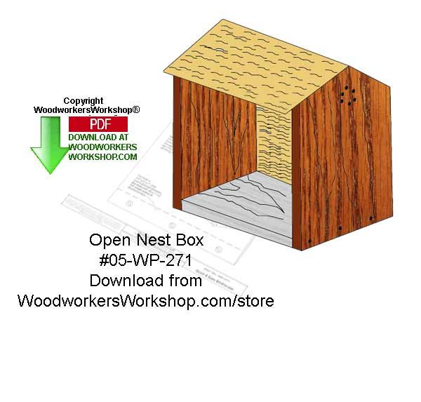 Open Nest Box Woodworking Crafts Pattern Downloadable
