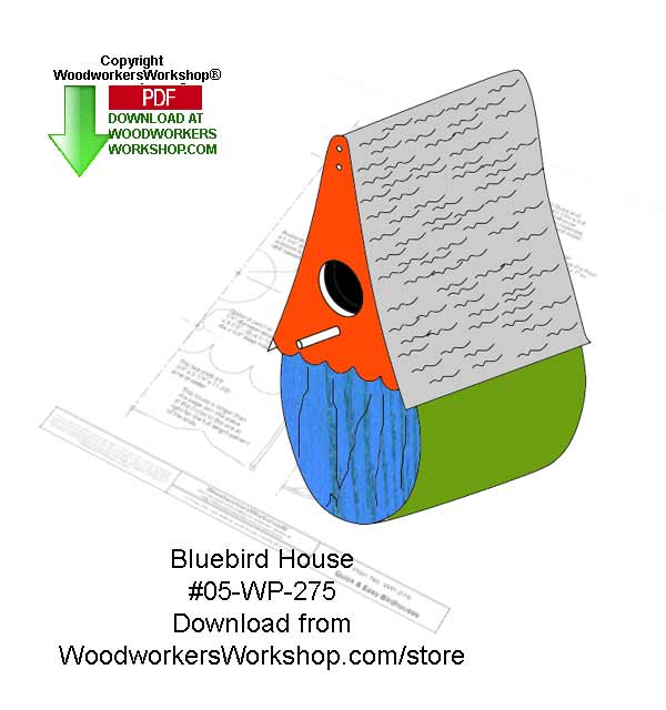 Bluebord Birdhouse Wood Crafts Pattern Downloadable