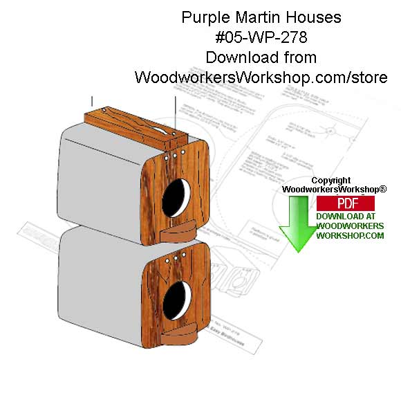 Purple Martin Houses Woodcraft Downloadable