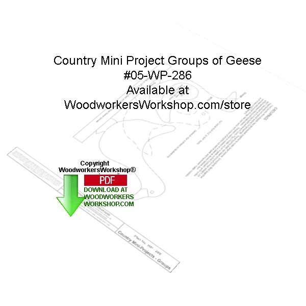 Country Projects Groups of Geese Downloadable Woodcrafting Pattern