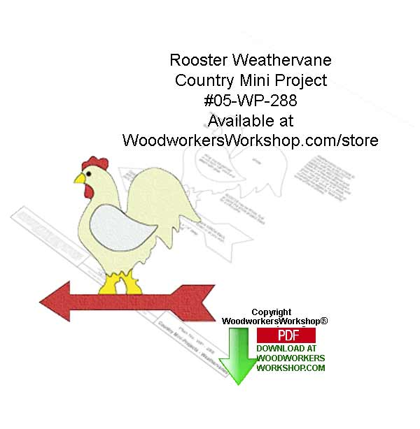 Rooster Weathervane Country Mini Project Downloadable Pattern