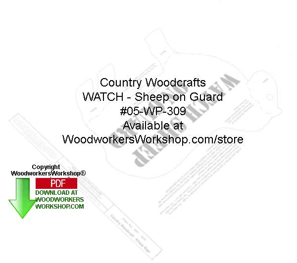 Watch Sheep on Guard Woodcraft Sign Pattern Downloadable