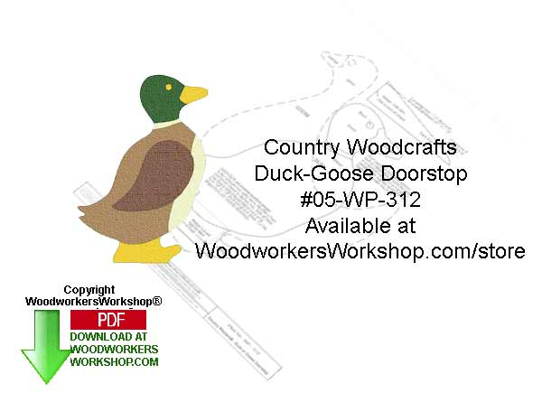 Duck and Goose Doorstoper Woodcraft Sign Pattern Downloadable