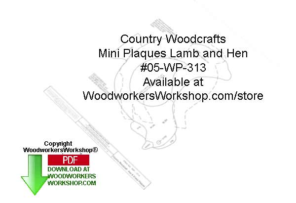 Lamb and Hen Mini Plaques Woodcraft Sign Pattern Downloadable