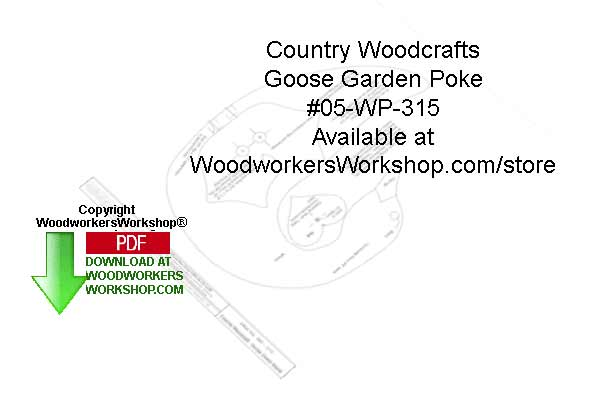 Goose Garden Poke Woodcraft Sign Pattern Downloadable