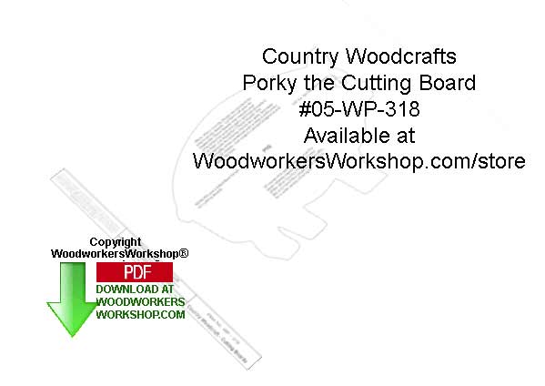 Pory the Cutting Board Woodcraft Sign Pattern Downloadable