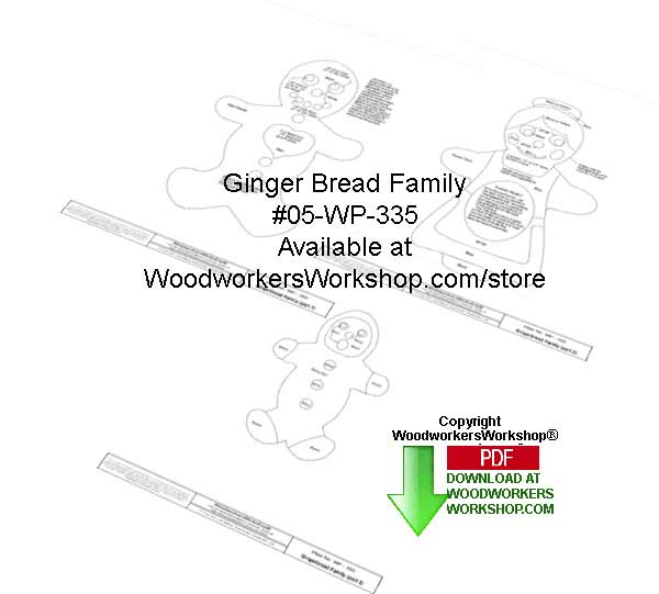 Gingerbread Family Downloadable Woodcrafting Article
