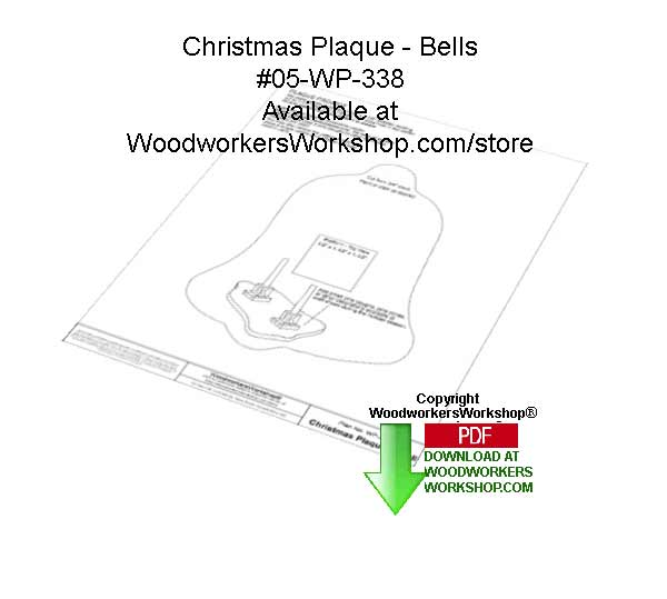 Christmas Bell Plaque Downloadable Woodcrafting Article