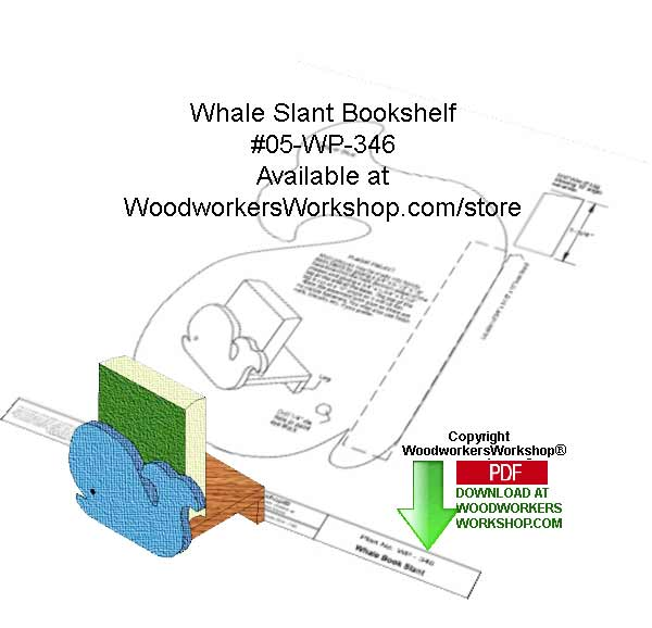 05-WP-346 - Whale Tail Bookshelf Downloadable Woodcrafting Pattern PDF