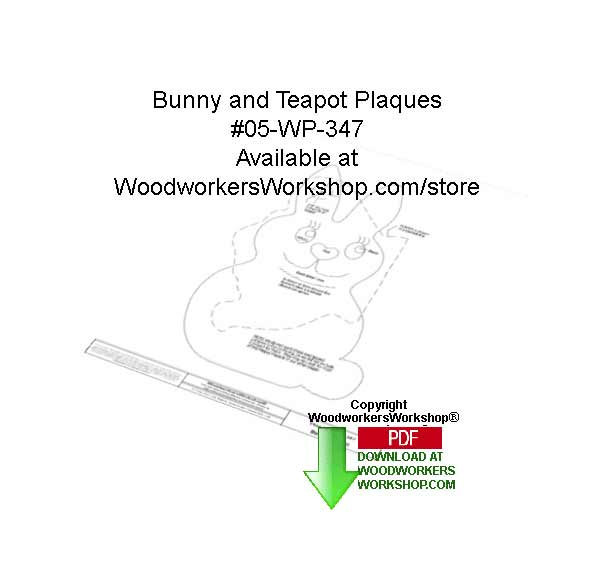 Bunny and Teapot Trivets Downloadable Woodcrafting Pattern