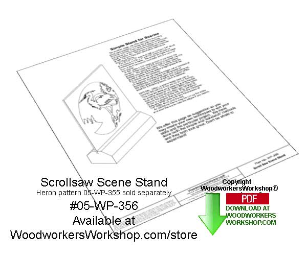 Scrollsaw Scene Stand Downloadable Scrollsaw Woodcrafting Pattern