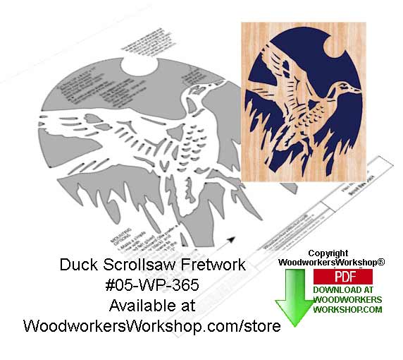 Duck Ascending Downloadable Scrollsaw Woodcrafting Pattern