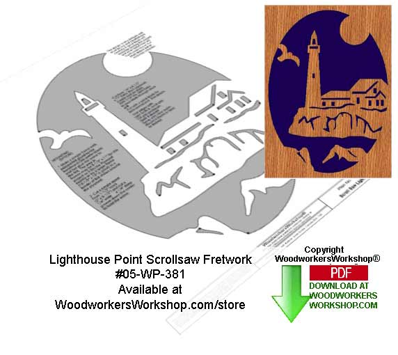 05-WP-381 - Lighthouse Point Downloadable Scrollsaw Woodcrafting Pattern PDF