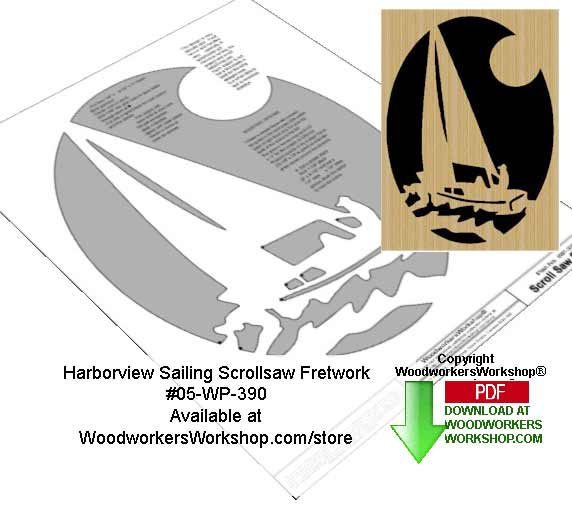 05-WP-390 - Harborview Sailing Downloadable Scrollsaw Woodcrafting Pattern PDF