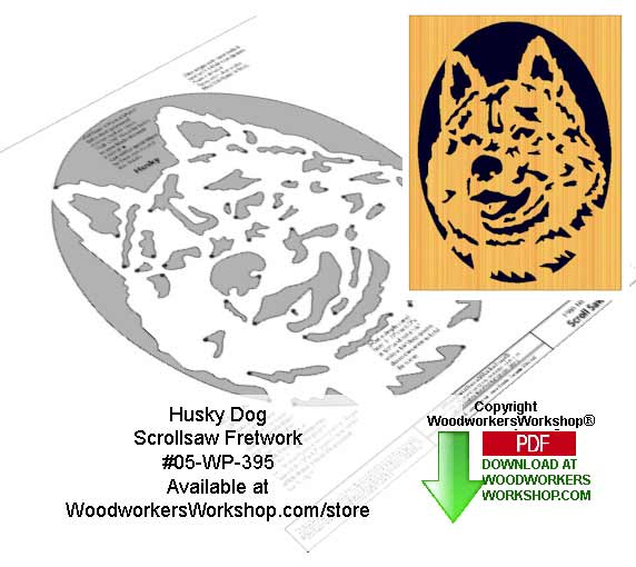 Husky Downloadable Scrollsaw Woodcrafting Pattern