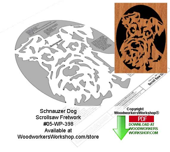 Schnauzer Dog Downloadable Scrollsaw Woodcrafting Pattern