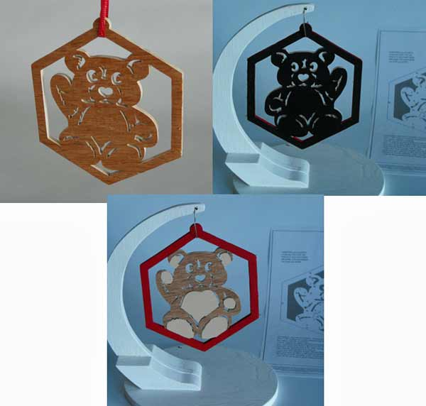 05-WP-435 - Christmas Teddy Ornament Downloadable Scrollsaw Woodworking Plan PDF
