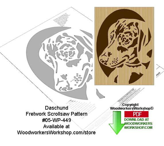 Daschund Downloadable Scrollsaw Woodworking Pattern