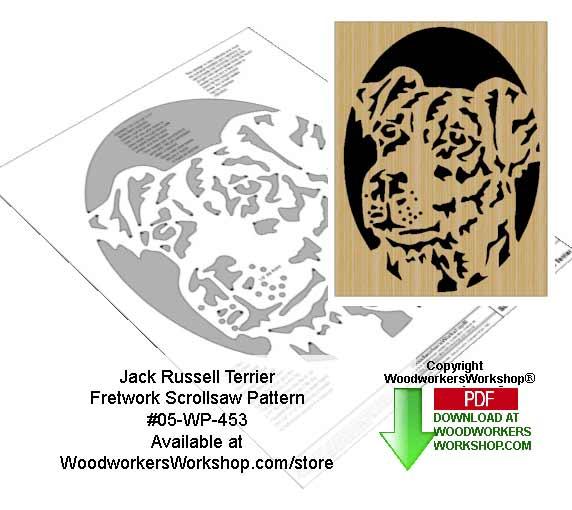 Jack Russell Terrier Downloadable Scrollsaw Woodworking Pattern
