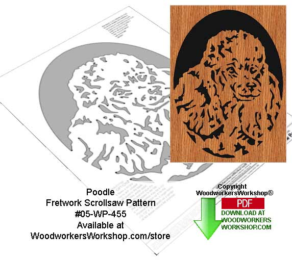 Poodle Downloadable Scrollsaw Woodworking Pattern