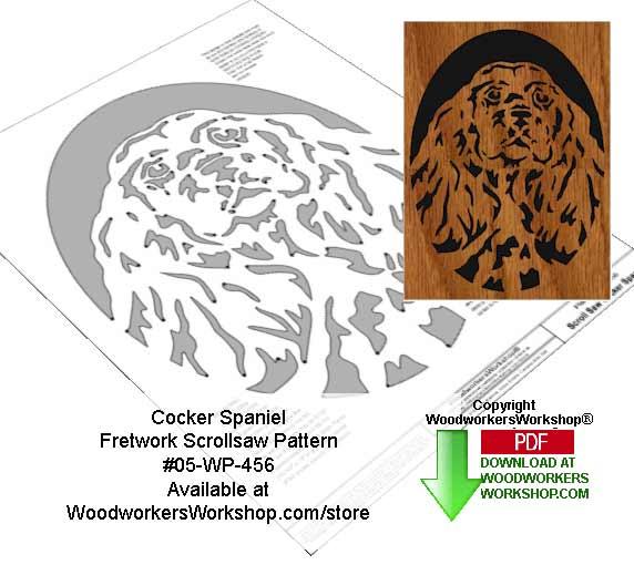 Cocker Spaniel Downloadable Scrollsaw Woodworking Pattern