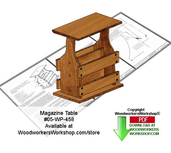 05-WP-458 - Basic Magazine Table Downloadable Scrollsaw Woodcrafting Pattern PDF