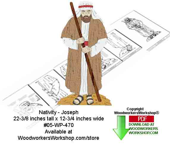 Nativity Joseph Downloadable Woodcrafting Pattern