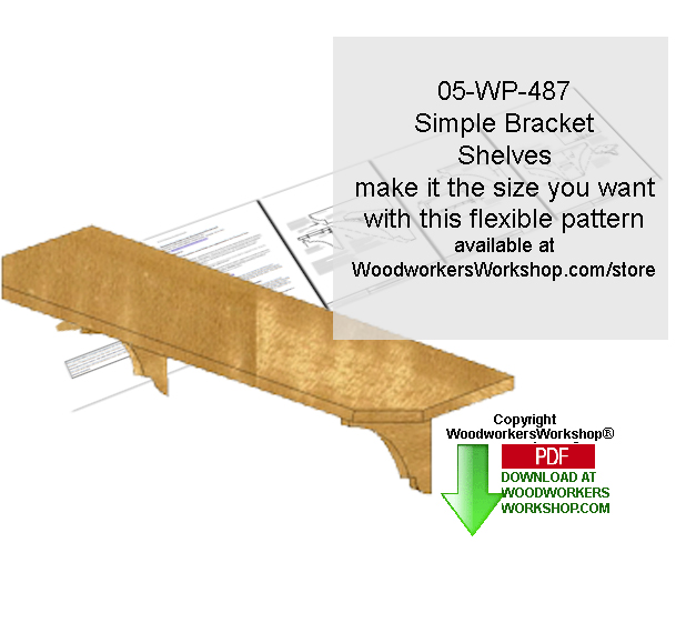 Simple Wall Mount Bracket Shelves Downloadable Scrollsaw Pattern