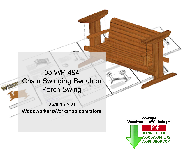 05-WP-494 - Chain Swing Bench Downloadable Woodcrafting Pattern PDF
