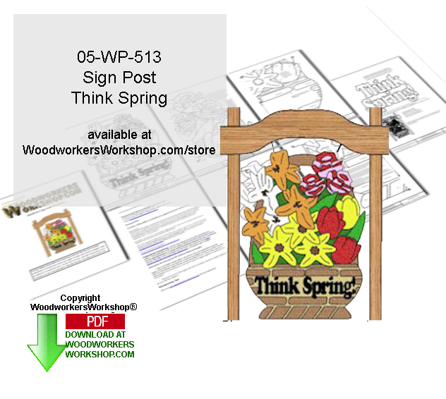 Think Spring Downloadable Scrollsaw Woodcrafting Pattern