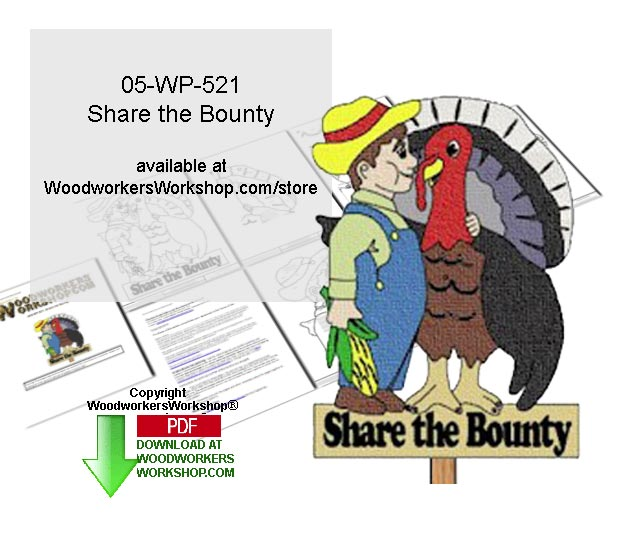 Share the Bounty Downloadable Yard Art Woodcrafting Pattern