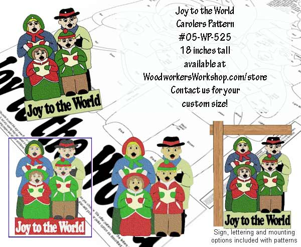 05-WP-525 - 4 Traditional Carolers Downloadable Scrollsaw Woodworking Plan PDF