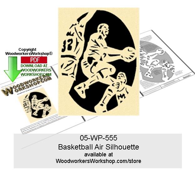 Basketball Air Silhouette Downloadable Scrollsaw Woodcraft Pattern