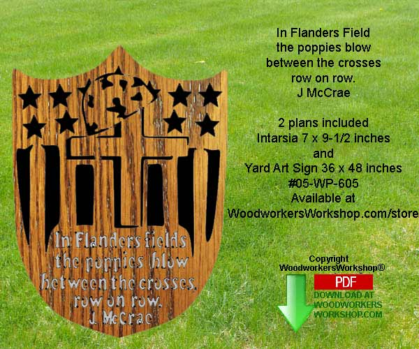 In Flanders Field Downloadable Woodcrafting Pattern