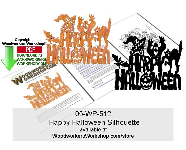 Happy Halloween Scrollsawing Woodworking Pattern Downloadable