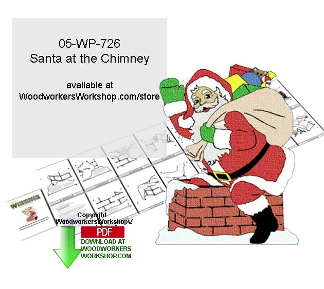 Santa at the Chimney Downloadable Yard Art Woodcrafting Pattern